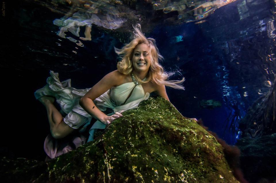 Cenote Modelling Underwater  – Margaret Wood – USA