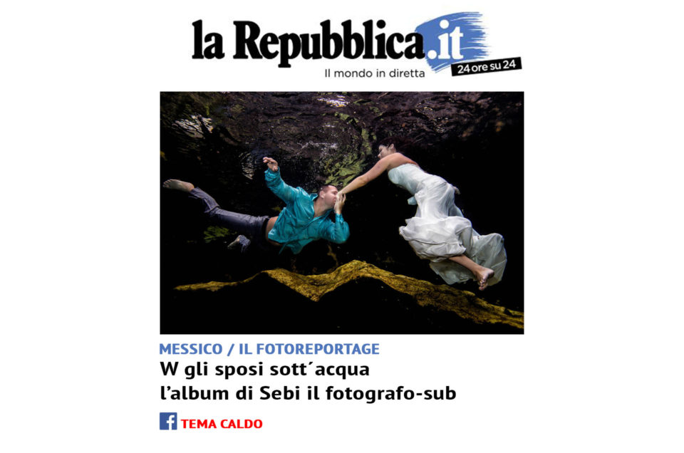 Underwater Trash The Dress Front page Repubblica.it
