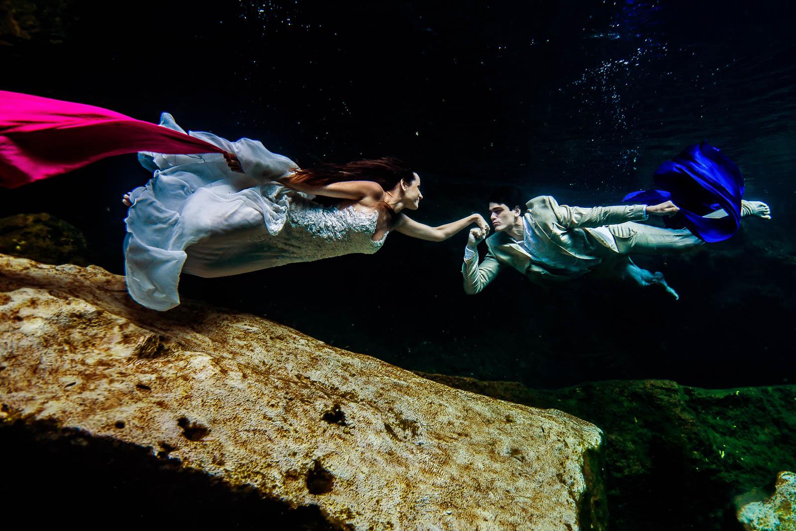 Underwater Post Wedding Photos