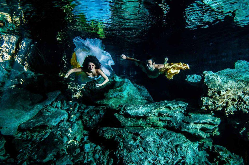 Messico Viaggio di nozze – foto subacquee - Chiara and Emiliano