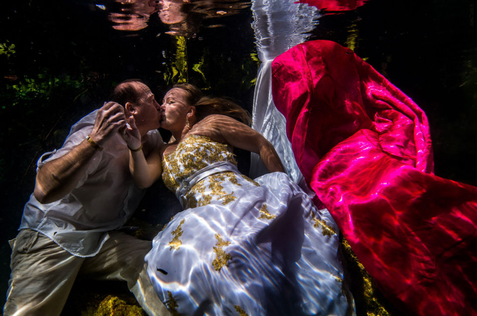 After Wedding Underwater Photo Shoot – Trisha and Richard