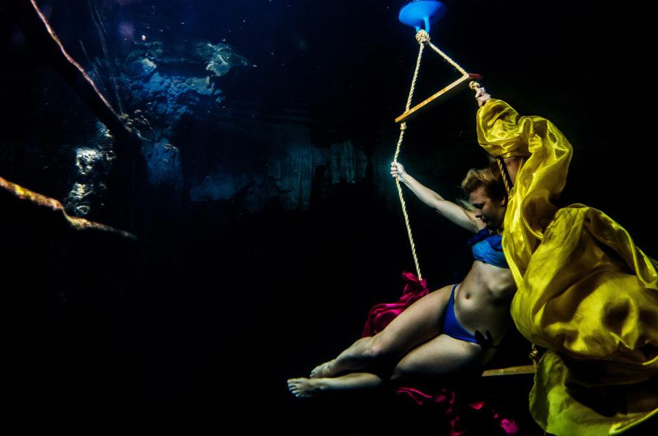 Underwater posing in a cenote – Aleksandra Kierzek