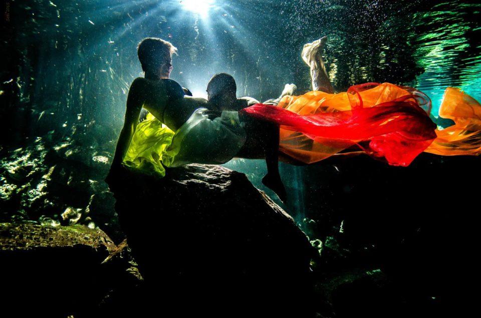 Maternity Underwater Cenote Mexico – Atzin