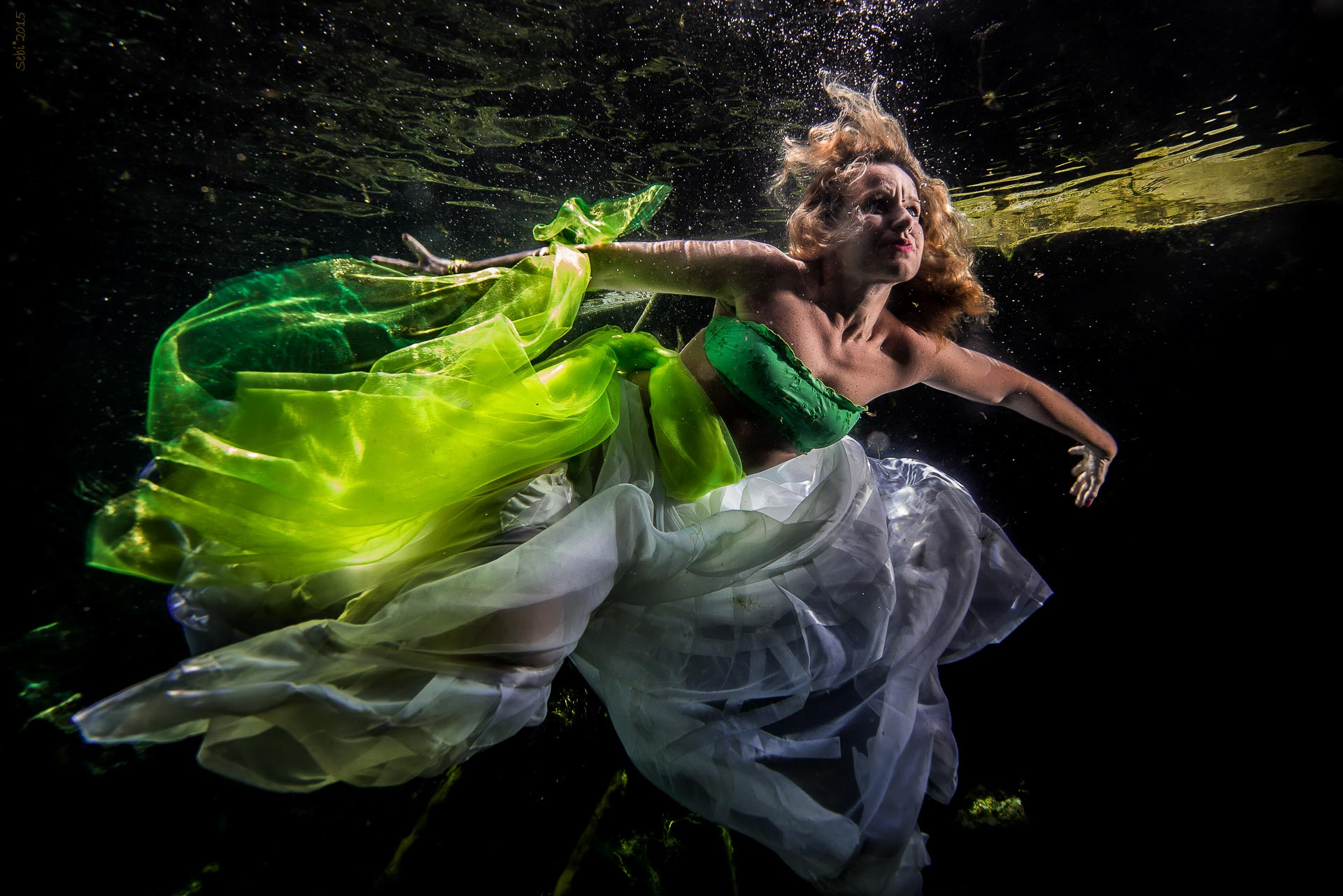 Model underwater from Italy