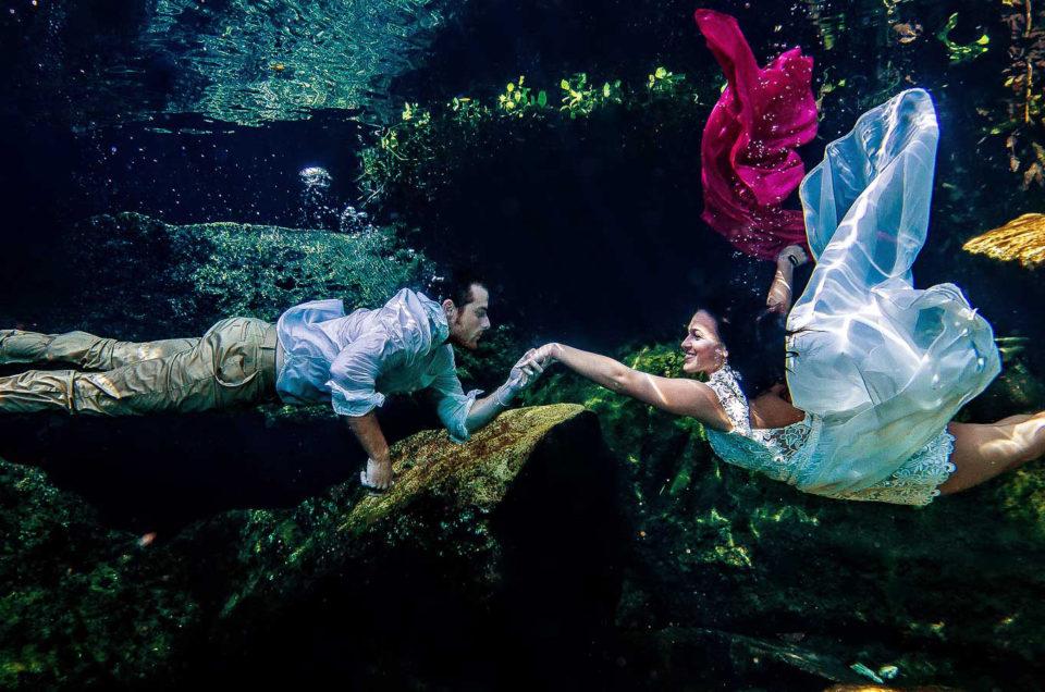 Best underwater wedding pictures - Kristen and Brandon