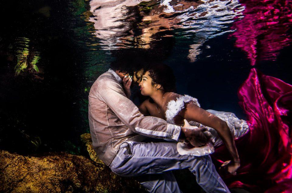 Engagement Underwater Photo Shoot - Millie and Rakesh