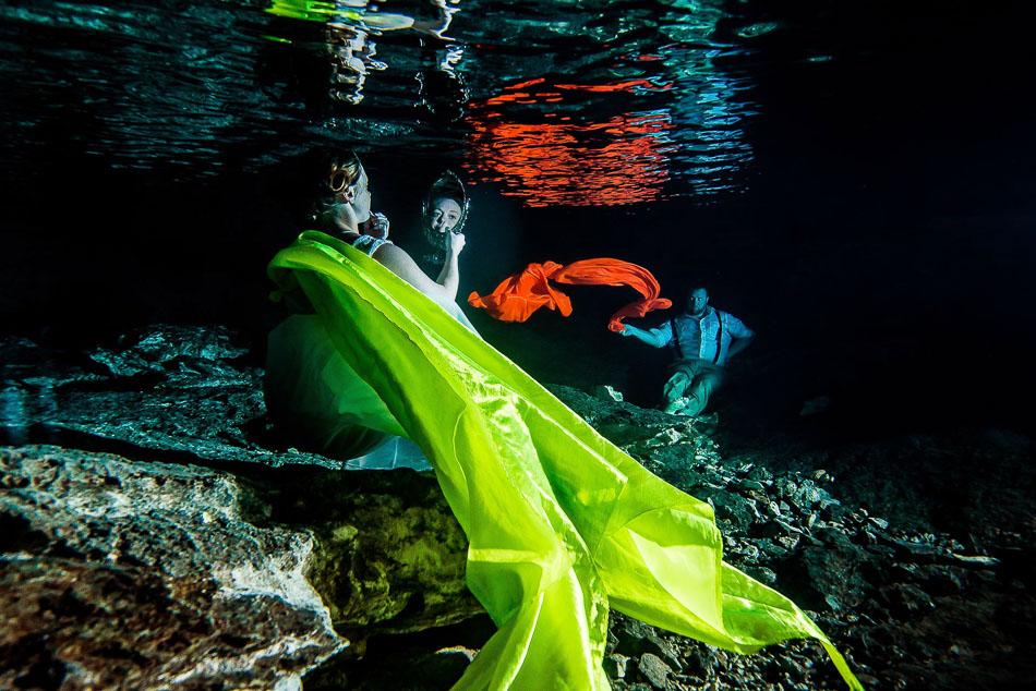 Xenote Underwater - Danyl and Zachary - Sebi Messina Photography